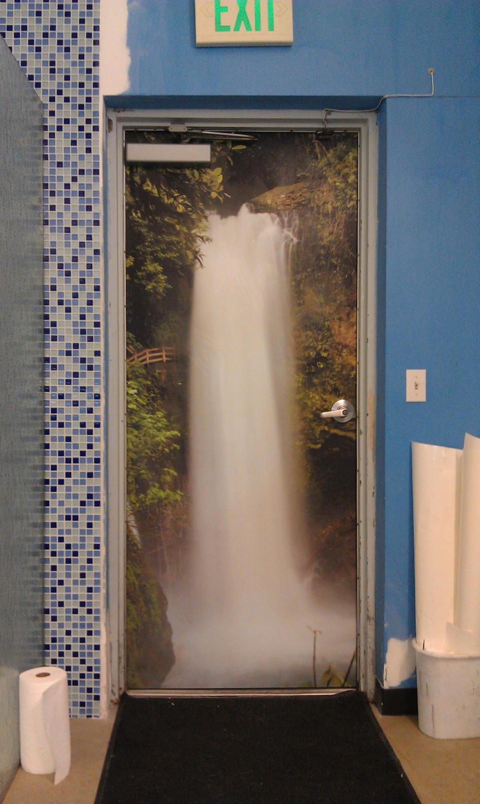 Waterfall Door Wrap & Waterfall Door Wrap / Comply Grafiks Pezcame.Com